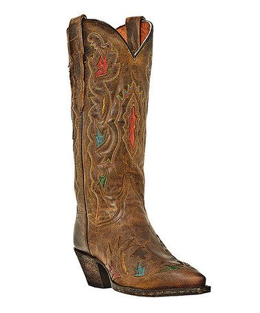 Another great find on #zulily! Tan Rosie Leather Cowboy Boot - Women by Dan Post #zulilyfinds