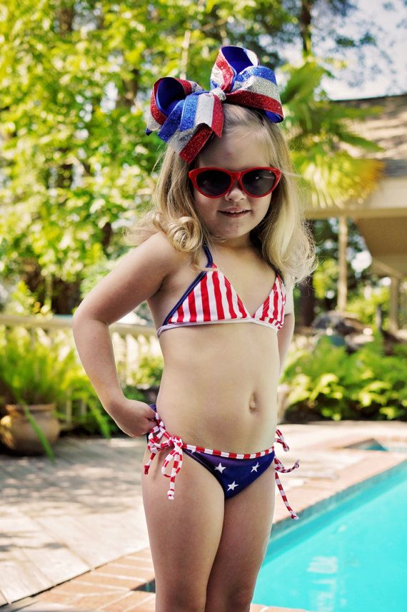 3419cf1072e20 Girls Swimsuit Fourth of July Baby Toddler Swimsuit