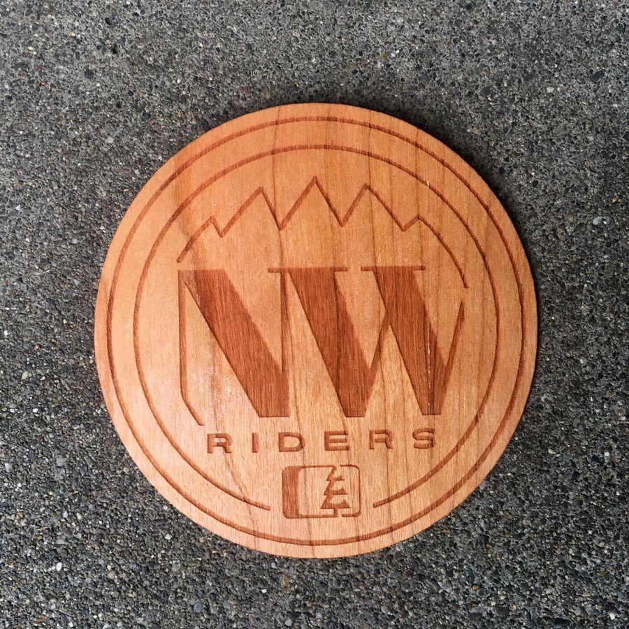 NW Circle Wood Sticker Cherry