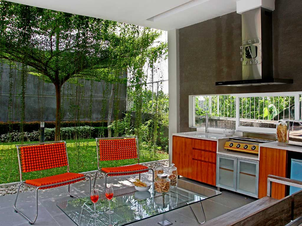 20 Desain Dapur Terbuka Di Halaman Belakang Dapur Kontemporer Dapur Luar Ruangan Rumah