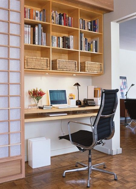 Space Saving Solutions For Small Condo Kitchens Tiny Home Office Small Space Office Small Office Room