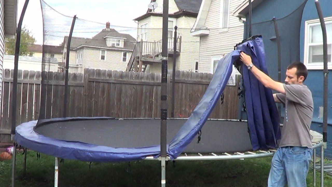 How to Take Down a Trampoline | Backyard trampoline ...