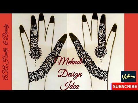 Back Hand Mehndi (Heena)Design Idea, Easy To Make - YouTube