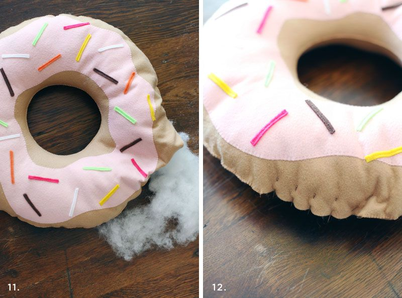 Simple And Sweet Donut Pillow Diy Sewing Projects Diy Pillows Donut Pillow