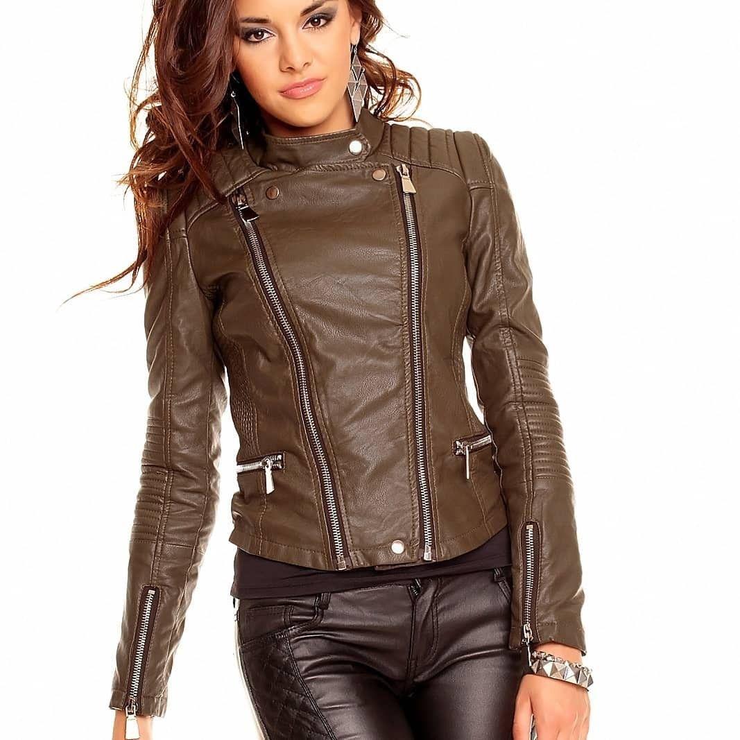 Pin On Zipped Up Leather Biker Jackets [ 1067 x 1067 Pixel ]