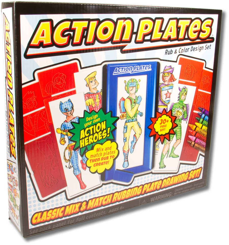 Action Plates Drawing Set Best Arts & Crafts for Ages 4