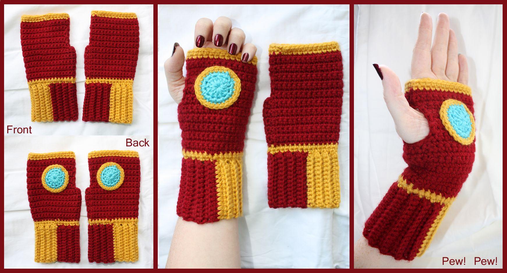 My First Gloves: Iron Man Gloves   Crochet gloves pattern ...