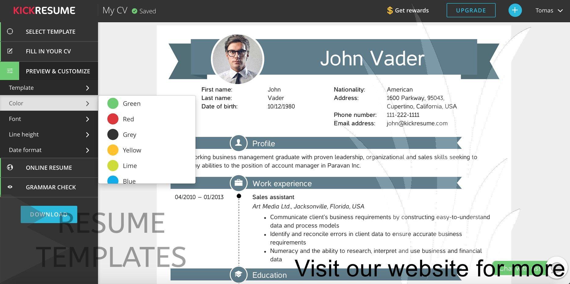 Pin by resumejob on Resume Job Free resume builder, Free
