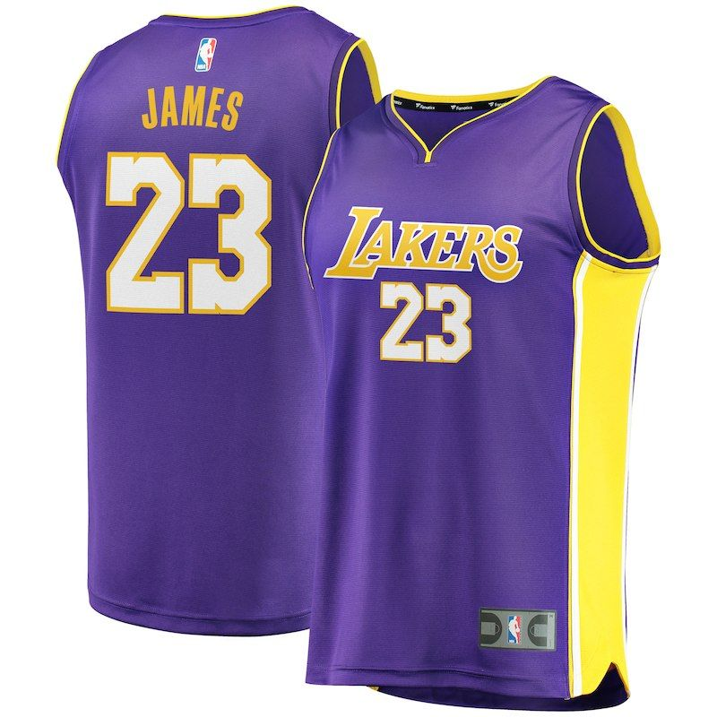 LeBron James Los Angeles Lakers Fanatics Branded Youth Fast Break Replica  Jersey Purple – Statement Edition 3ceadbc32
