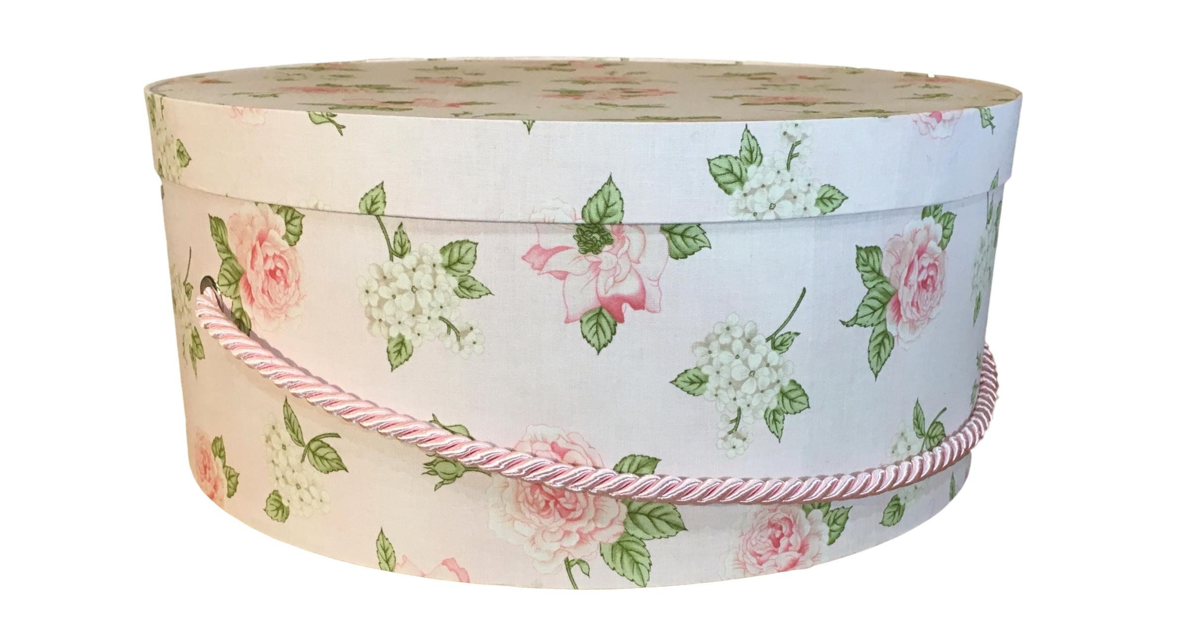Large Hat Box In Light Pink Floral Large Decorative Fabric Covered Hat Boxes Round Storage Box Keepsake Boxes With Lid Nest Hat Box Fabric Decor Large Hats