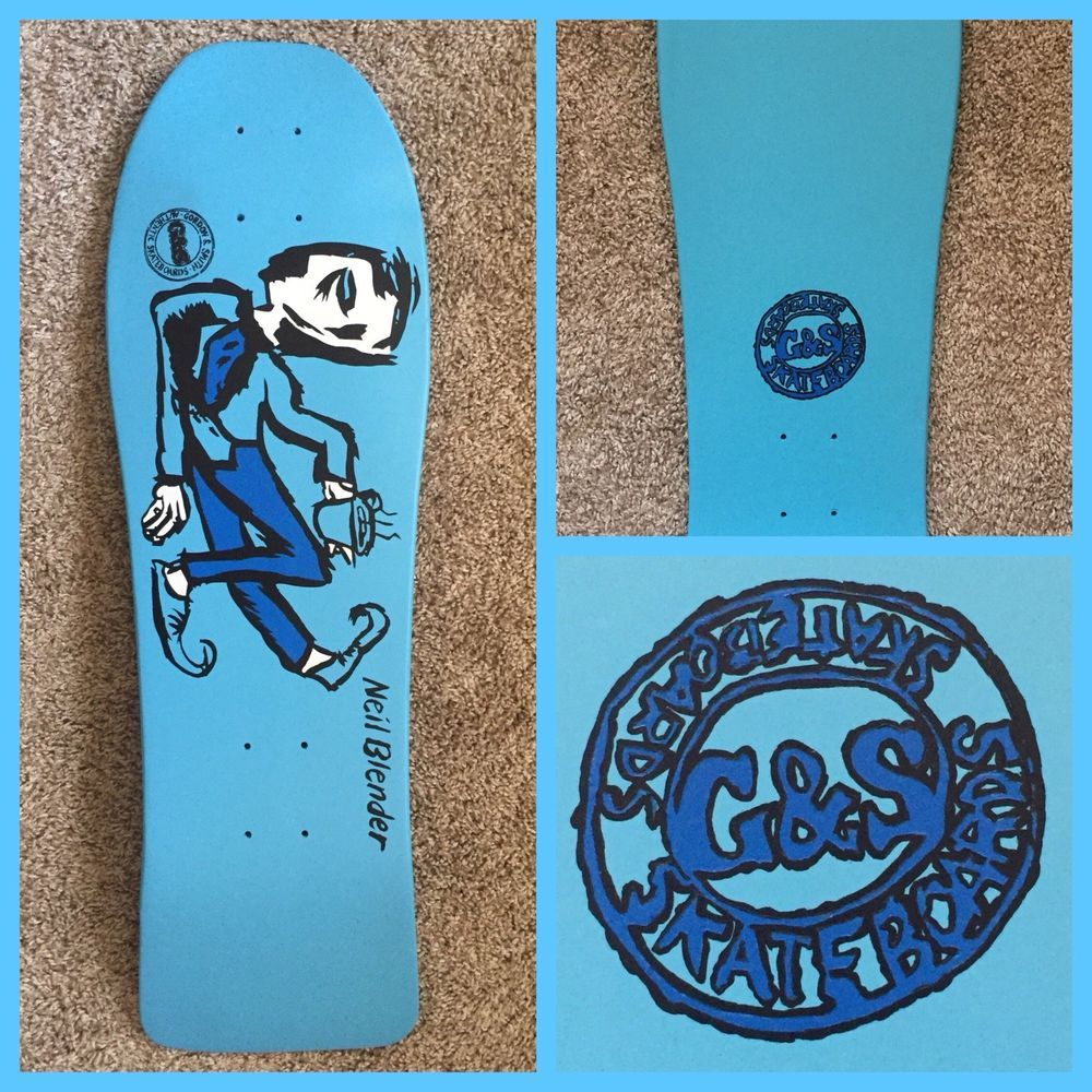 d59c335f07 Vintage Neil Blender Coffee Break Skateboard Deck  GS