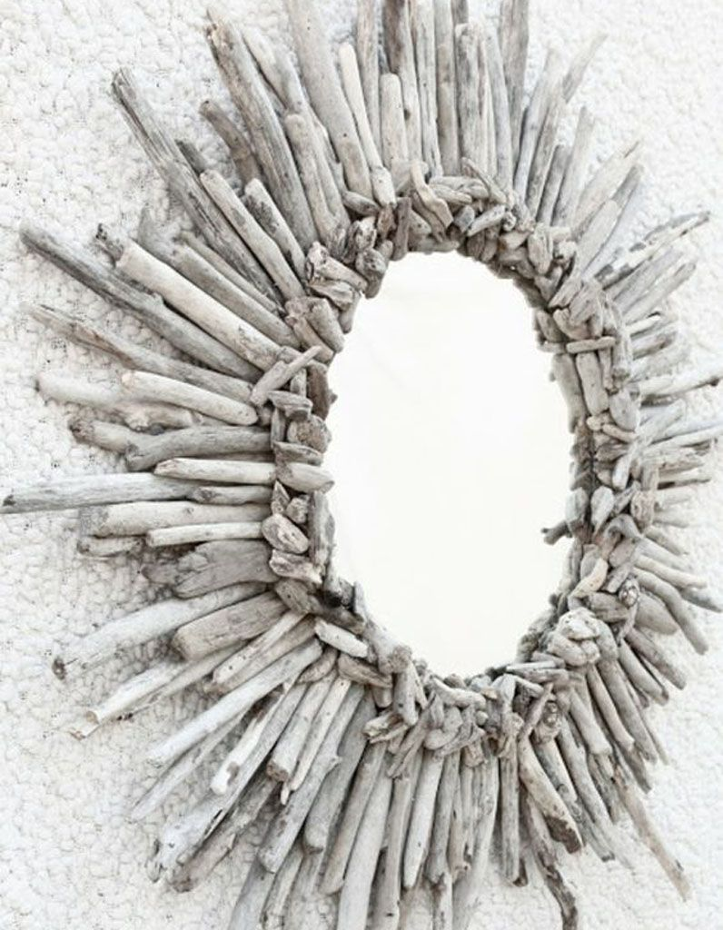 Réaliser un miroir soleil en bois flotté | ahşap | Pinterest ...