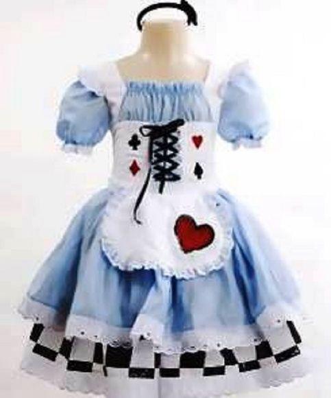 e40a5fe7d Fantasia Alice Super Luxo Fantasias De Halloween Infantis