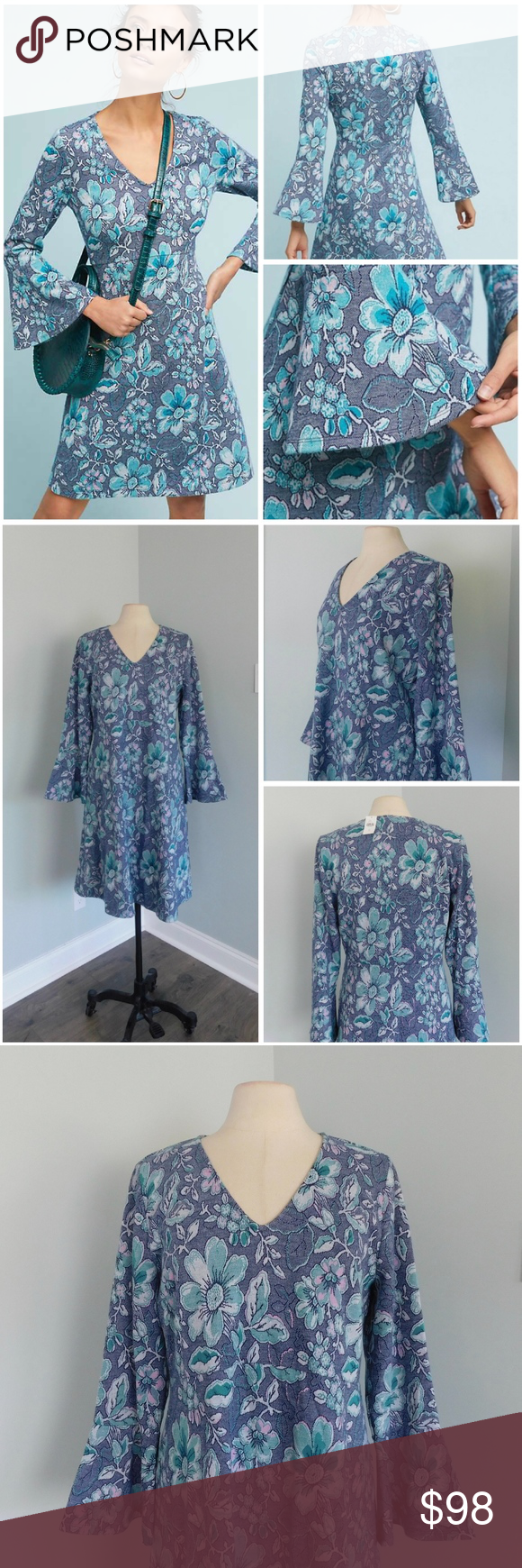 e11e29b8c71d NWT MAEVE X-Large Blue Floral FLORENCE Knit Dress *NO Trades Please* NWT