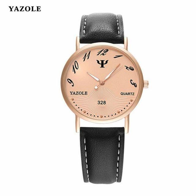 d0559f101 YAZOLE Luxury Men Watch 2018 Fashion Brand Men Faux Leather Analog Quartz  Watch Males Sports Casual