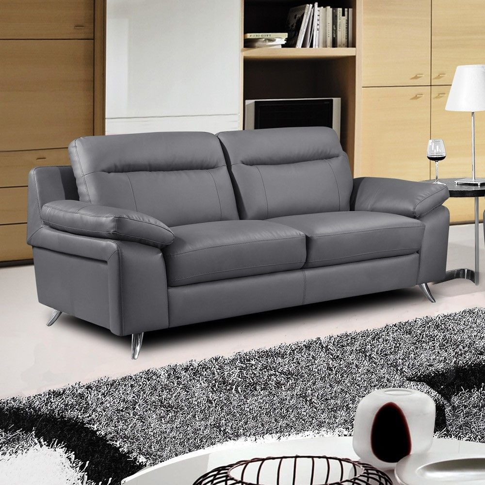 Creating Your Dream House With Grey Leather Sofa Anlamli Net In 2020 Grey Leather Sofa Sofa Design Contemporary Sofa