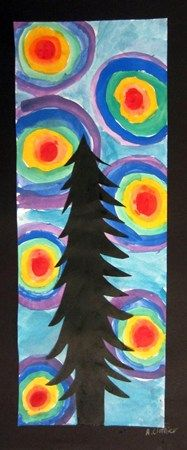 Color Wheel Order Background Tree Silhouette Third Grade