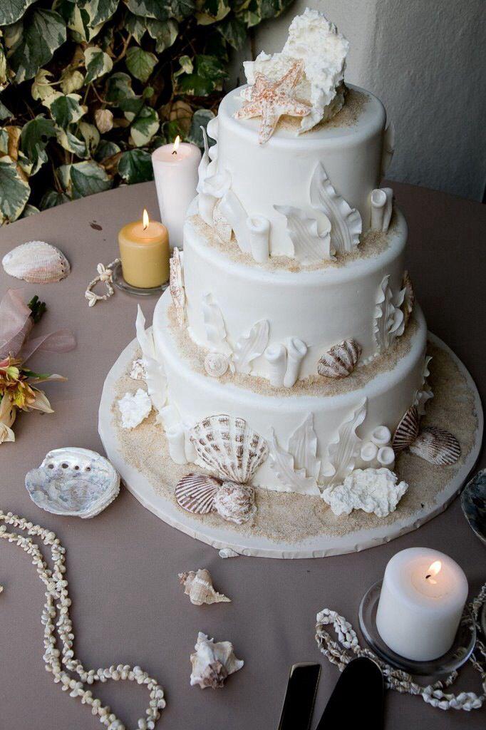 Beach Wedding Cake Beach Theme Wedding Cakes