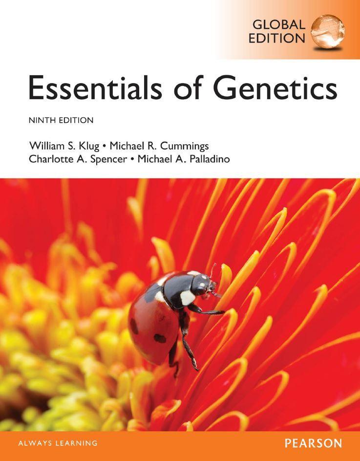 Essentials Of Genetics 9th 9e Global William Klug Pdf Tetxbook