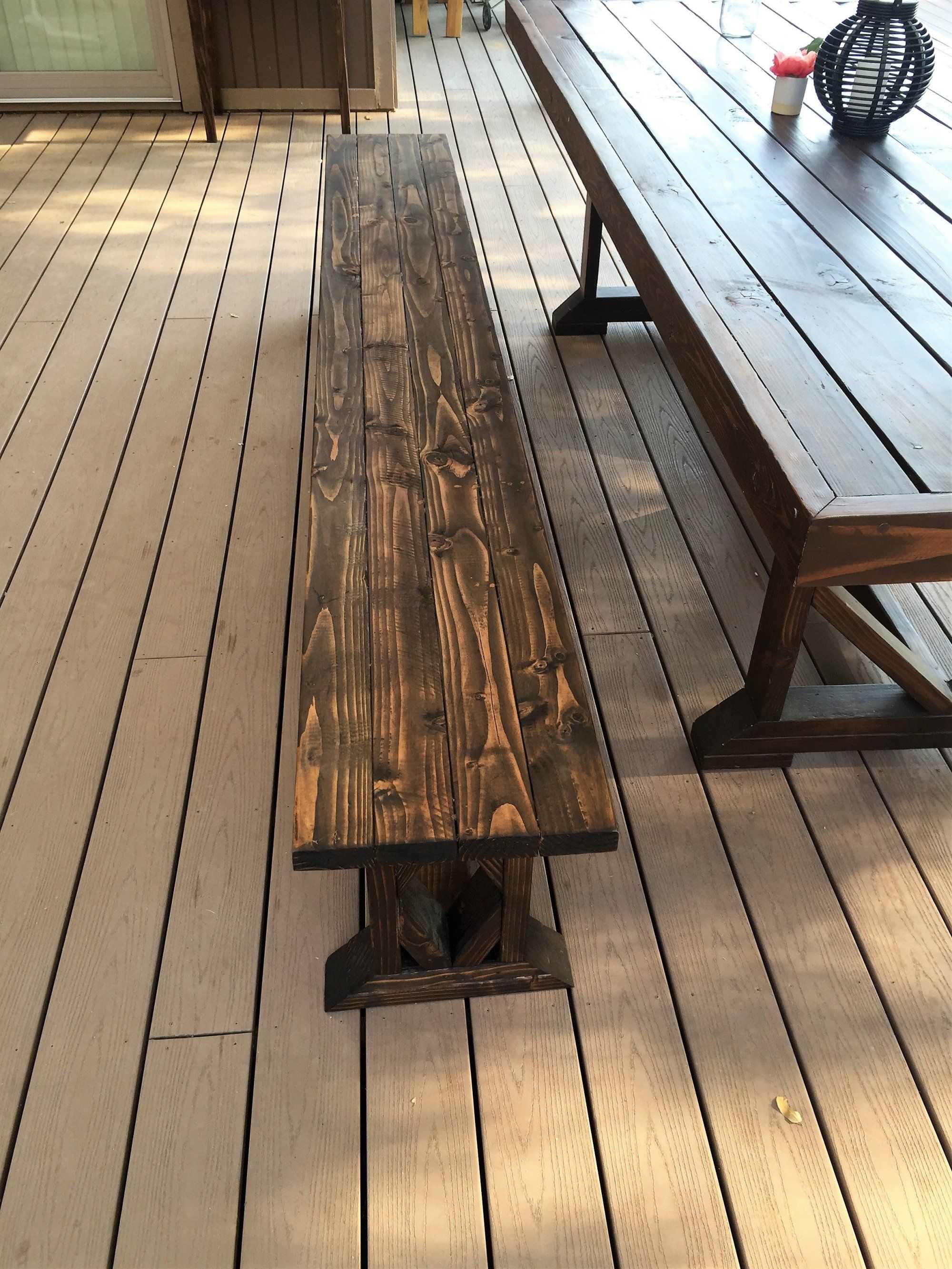 Marvelous Diy Extra Long Wood Bench Free Plans Diy Picnic Table Squirreltailoven Fun Painted Chair Ideas Images Squirreltailovenorg
