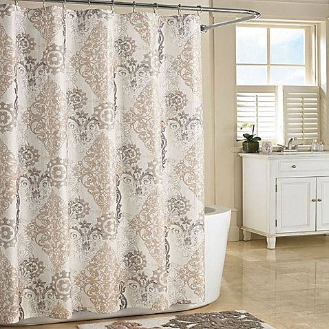 J. Queen New York™ Galileo Shower Curtain Stall in Natural | New ...