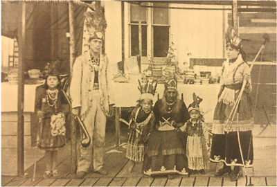 "As a throwback to the days when the Indians who named Conneaut Lake roamed the area, Exposition Park offered a ""dress up station"" as depicte..."