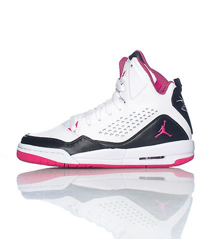 uk availability fbf64 1eafb JORDAN high top girl s sneaker Lace up closure Cushioned inner sole for comfort  Padded tongue with pink jumpman logo -  90.00