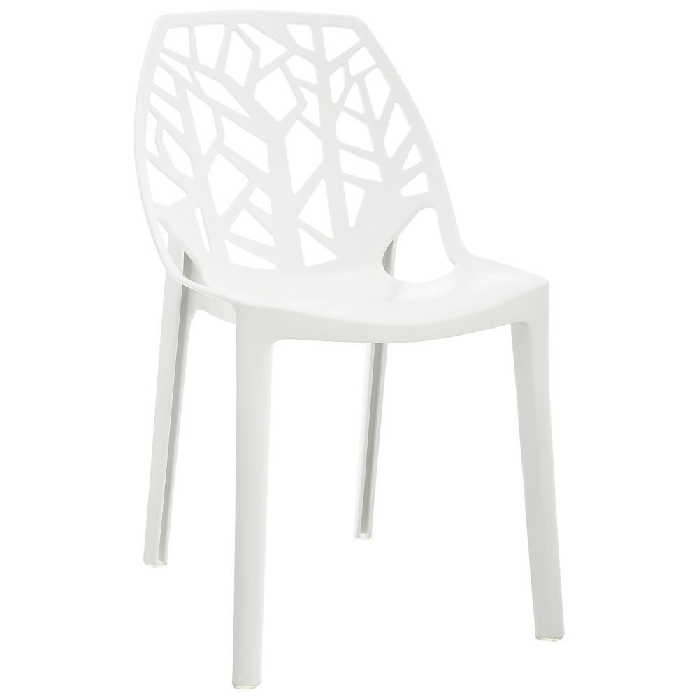 Garden Chair Modern Plastic Outdoor Furniture Patio Seat White Lomos Outdoor Living