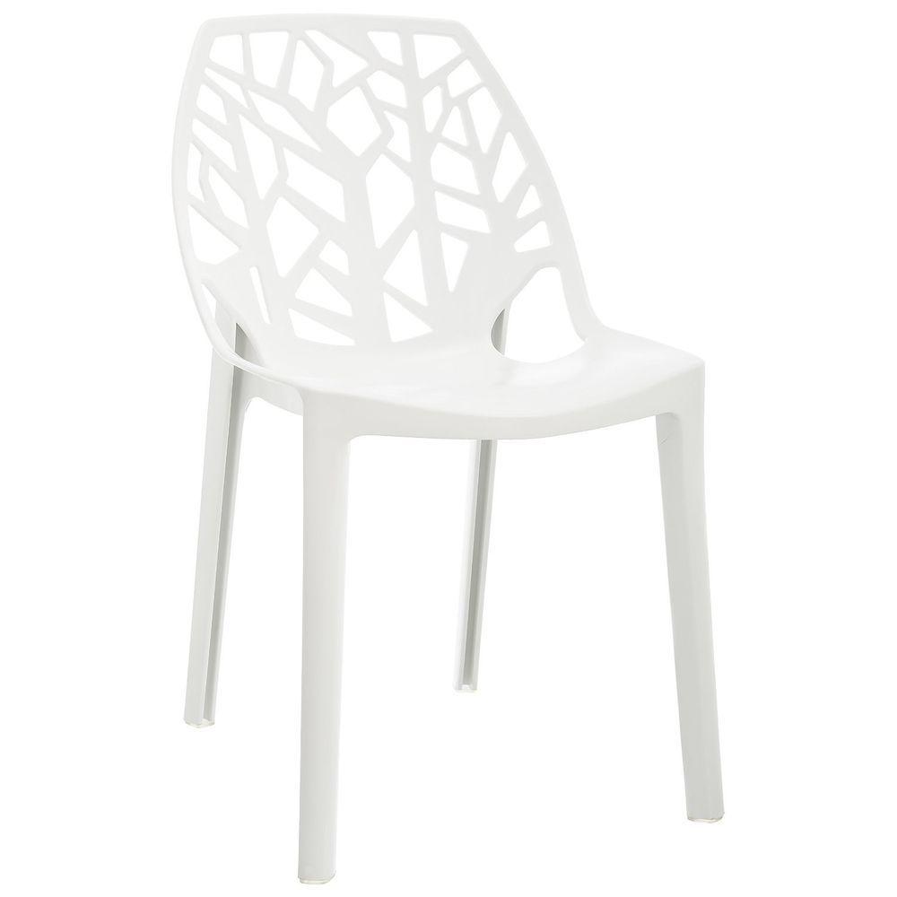 Garden Chair Modern Plastic Outdoor Furniture Patio Seat White
