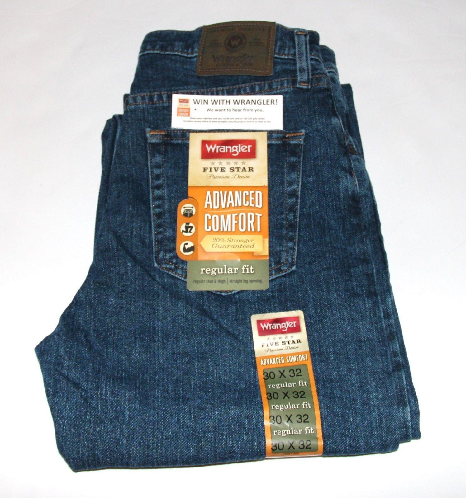 345d5975 Wrangler Fivestar Premium Denim Advanced Comfort Regular Fit Jean Men'S Size