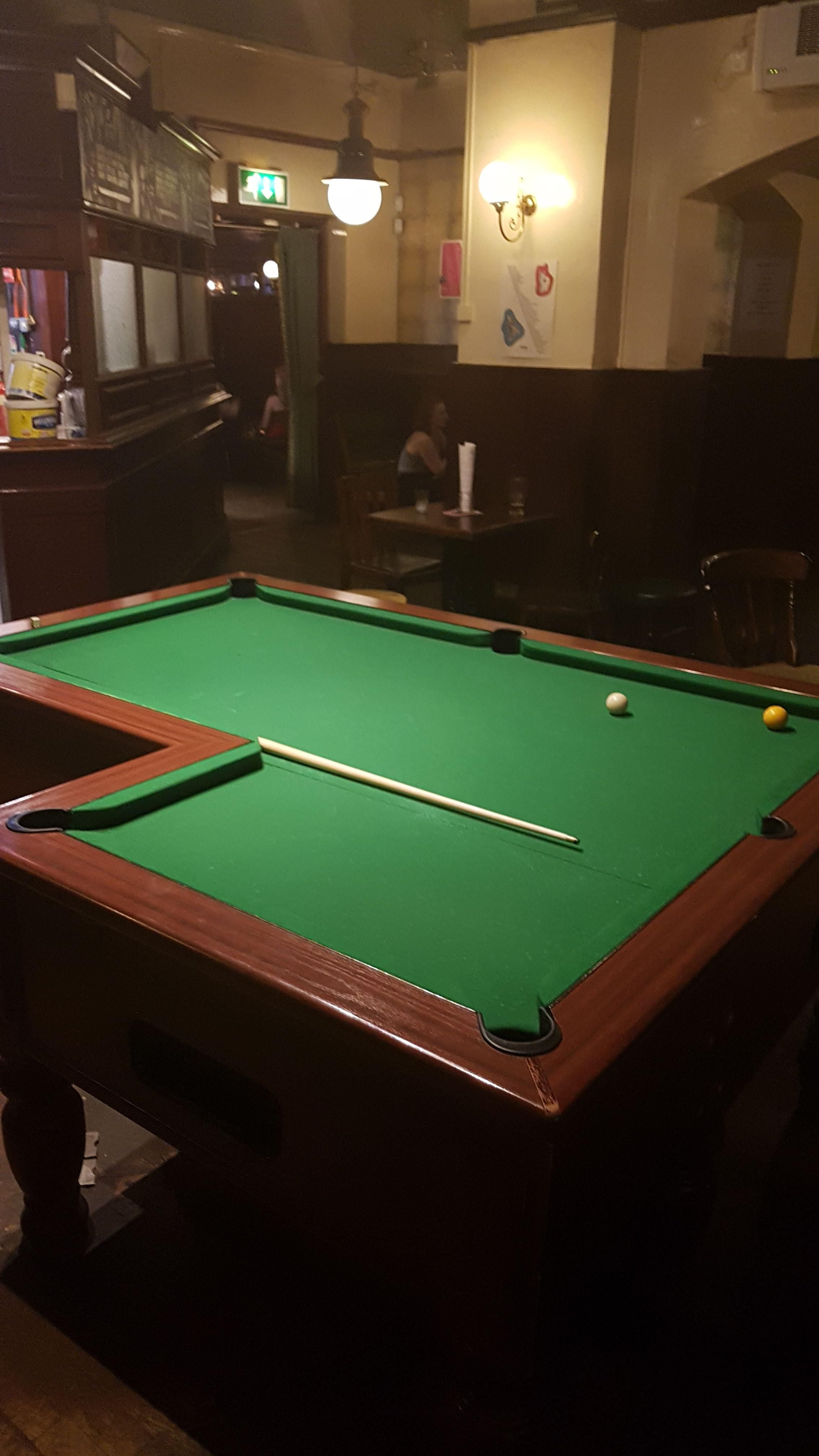 Tonight I Played On An L Shaped Pool Table Http Ift Tt 2pdgq25