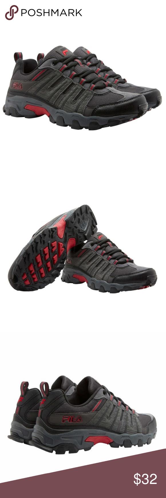 Fila Mens WESTMOUNT Leather Hiking Sneakers B Fila WESTMOUNT