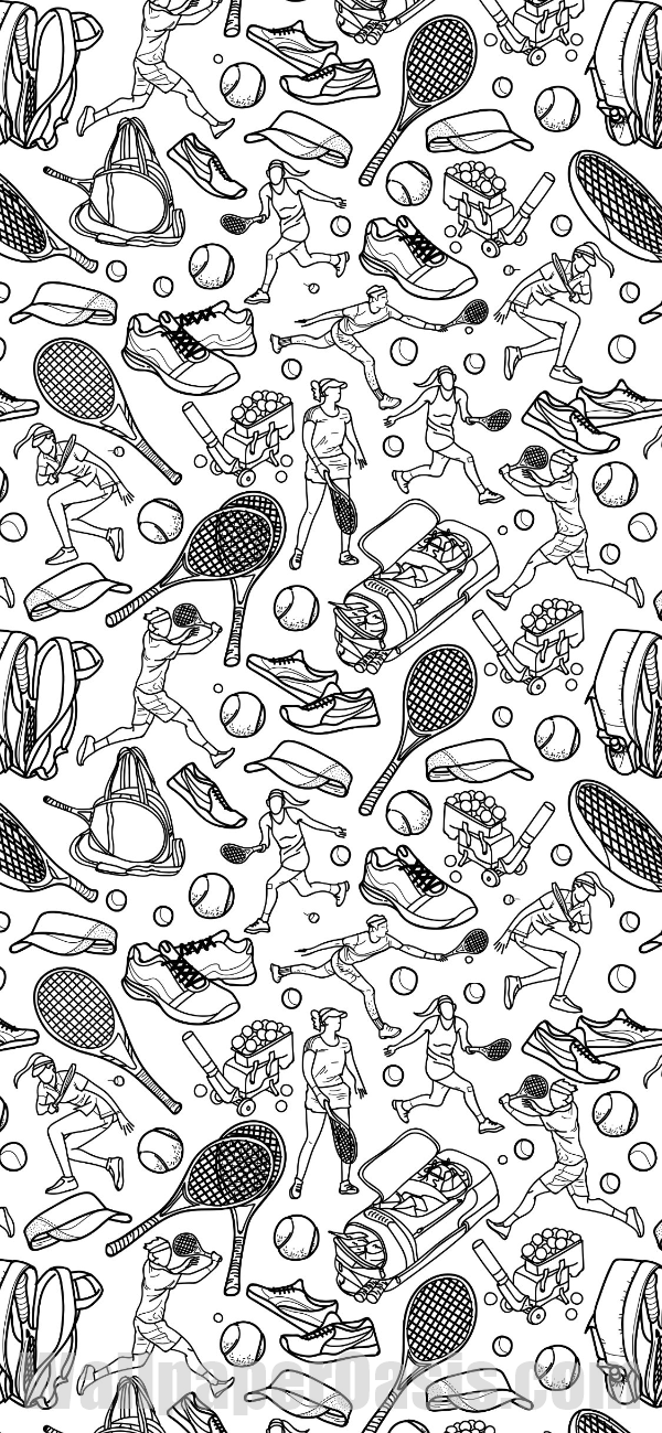Free Tennis Doodle Iphone Wallpaper This Design Is Available For Iphone 5 Through Iphone X Get This Backgr Tennis Wallpaper Cute Patterns Wallpaper Wallpaper