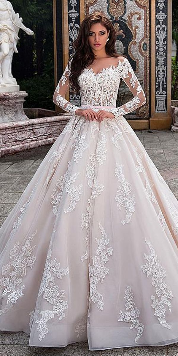 [277 00] Fabulous Tulle Sheer Bateau Neckline Seethrough Bodice Aline Wedding Dress With Lace Appliques & Beadings & Belt