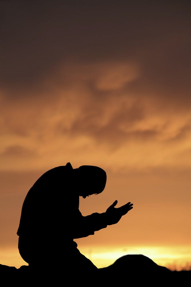 My mouth shall speak the praise of the Lord; and let all flesh bless is  holy name for ever and ever. | Kneeling in prayer, Prayer images, Islamic  pictures