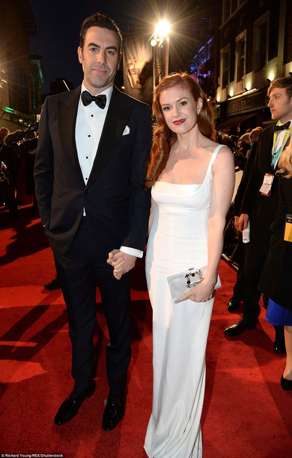 Glamour gowns u frock horrors at the baftas sacha baron cohen