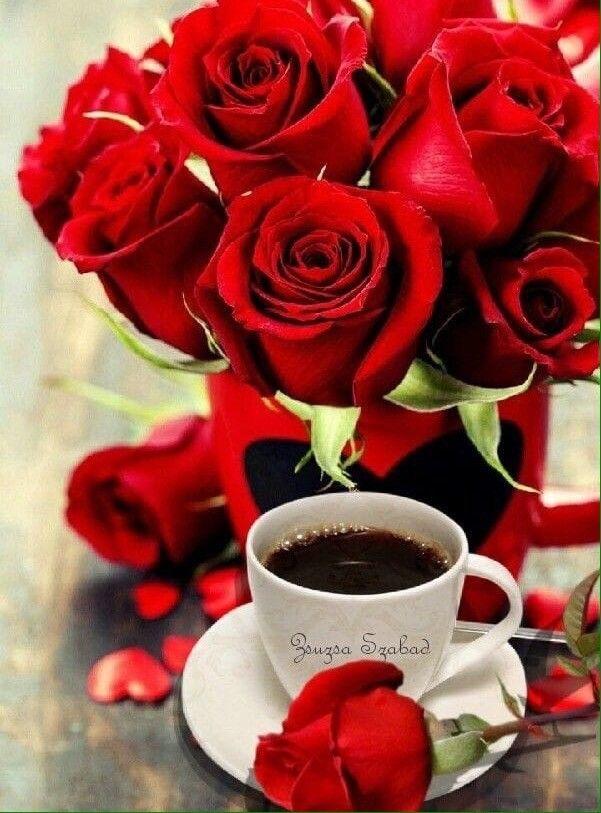 доброе утро чашка чая с цветами