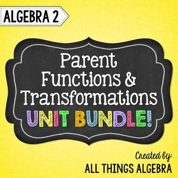 Parent Functions and Transformations (Algebra 2 Curriculum