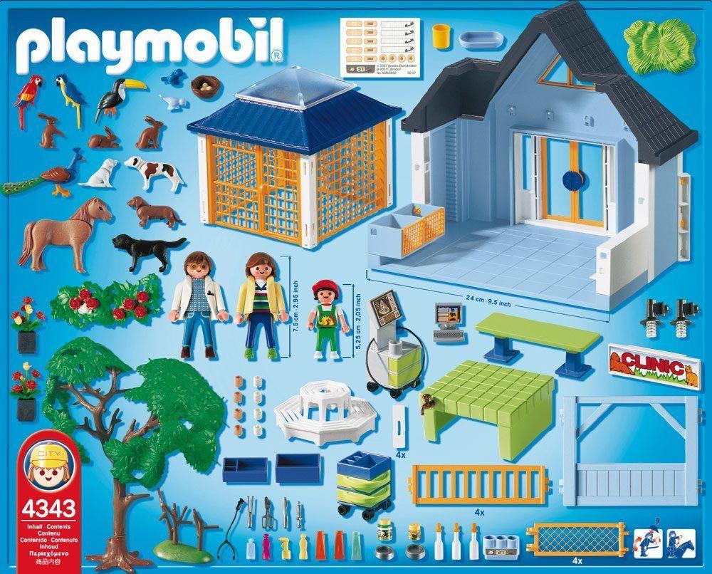 playmobil 4343 jeu de construction clinique v t rinaire jeux et jouets tap. Black Bedroom Furniture Sets. Home Design Ideas