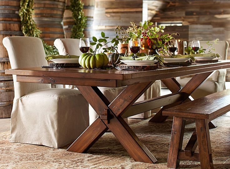Think Of Autumn's Colors And Textures As You Decorate Your Home Amusing Pottery Barn Dining Room Tables Design Ideas
