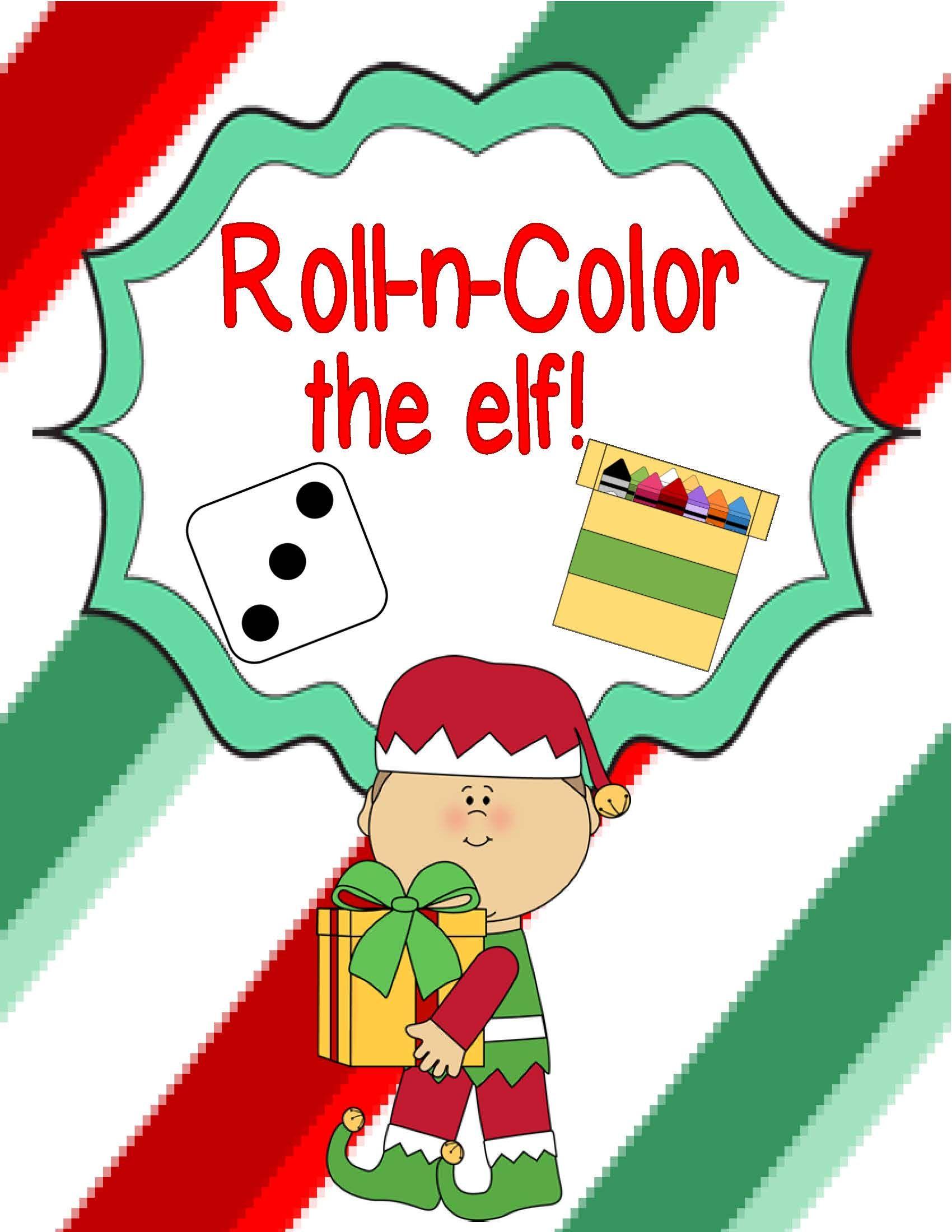 Free Downloads Roll N Color The Elf Freebie