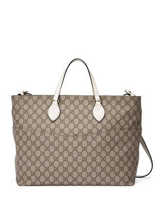 ca499746c58 GG+Supreme+Canvas+Top-Handle+Diaper+Bag+by+Gucci+at+Neiman+Marcus ...
