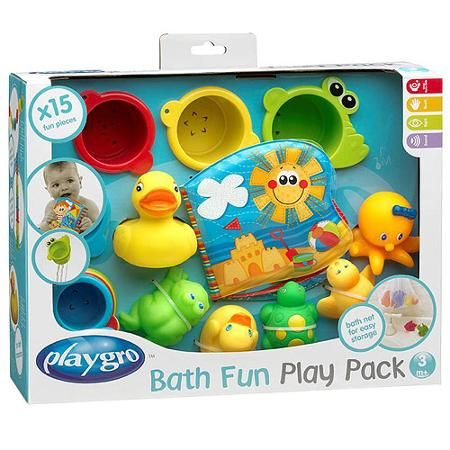 Playgro Bath Pack, yeah small motor is fine I DON'T do toys that make noise!!