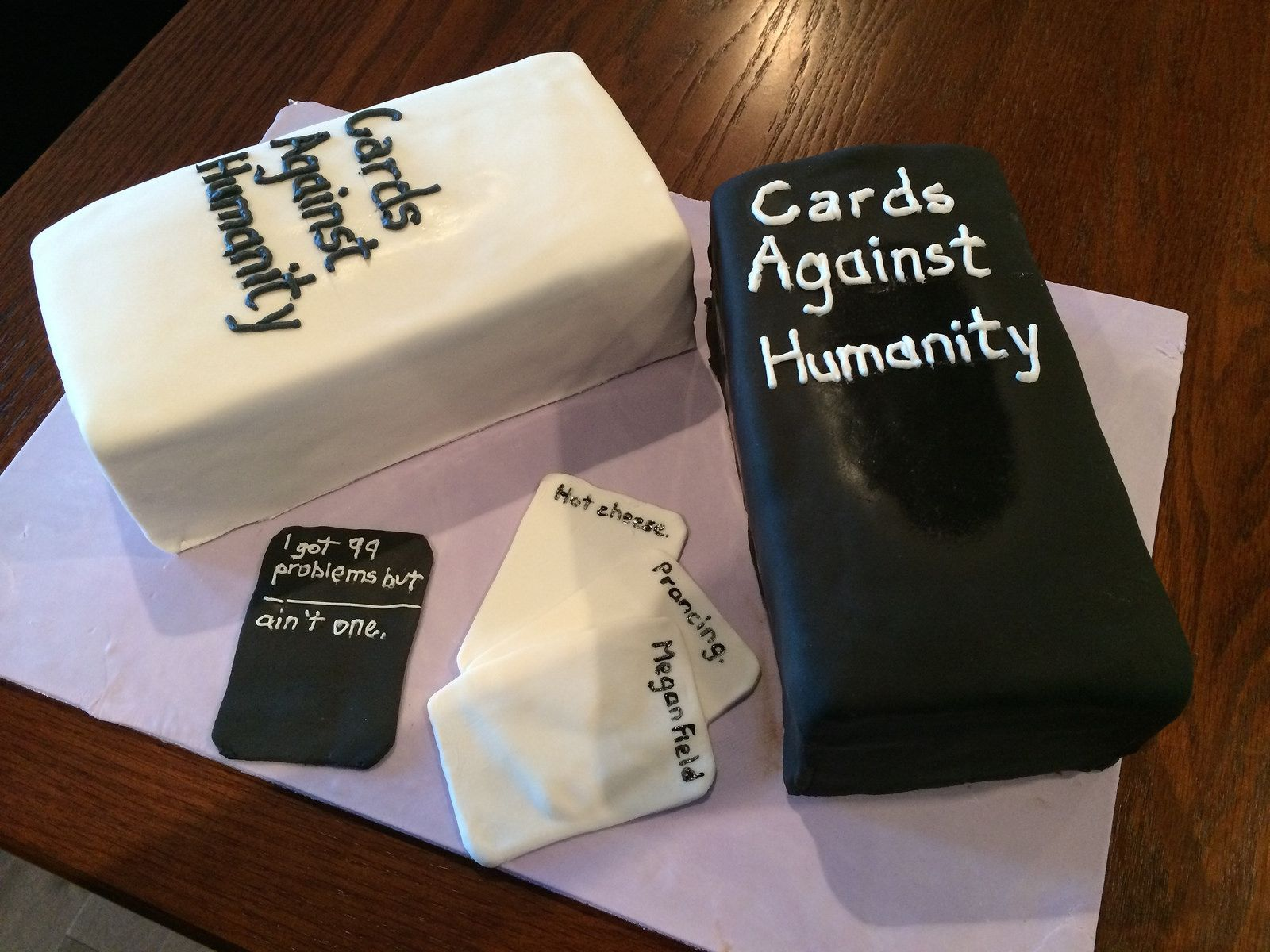 Cards against humanity cake cake white cakes and fondant cakes cards against humanity cake bookmarktalkfo Image collections