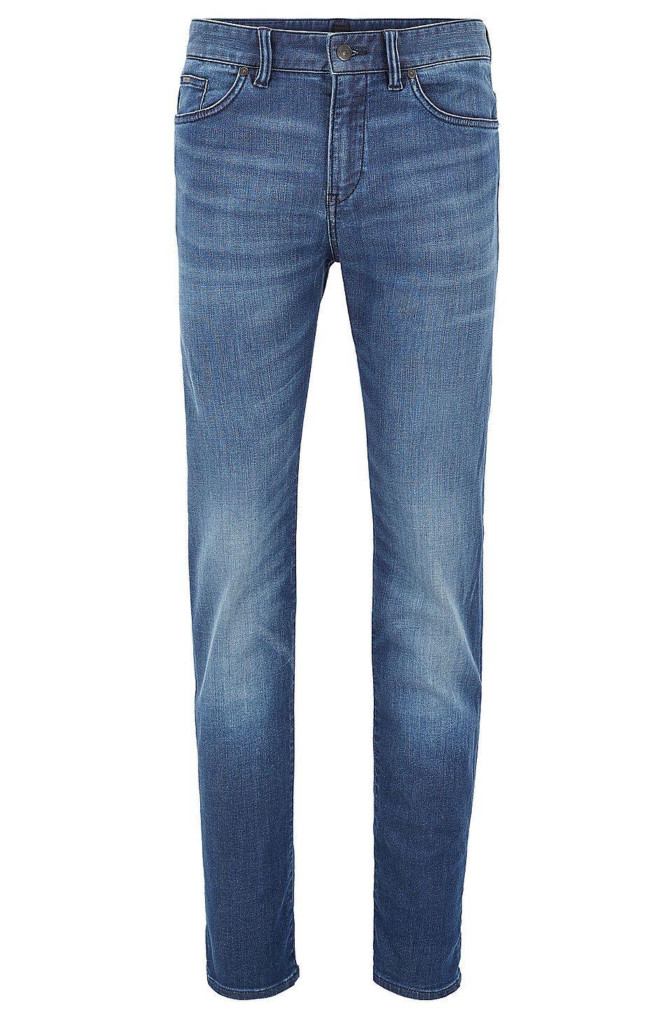 Hugo boss midblue slimfit jeans in stretch denim blue