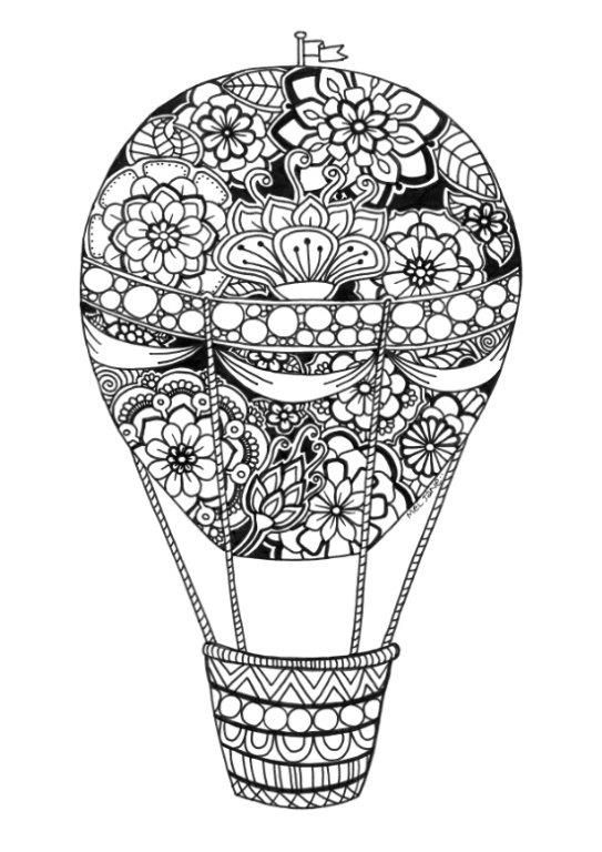 Pin de Barbara en coloring balloon umbrella  Pinterest  Dibujo