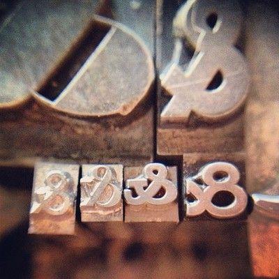 Bodoni Ultra, & Futura, & Helvetica, & Bodoni semi-bold, & Clarendon, & Copperplate № 1  ampersands #letterpress (Taken with Instagram)