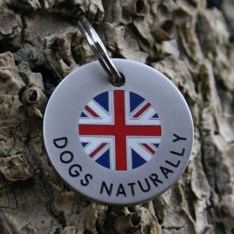 Union Jack dog tag.