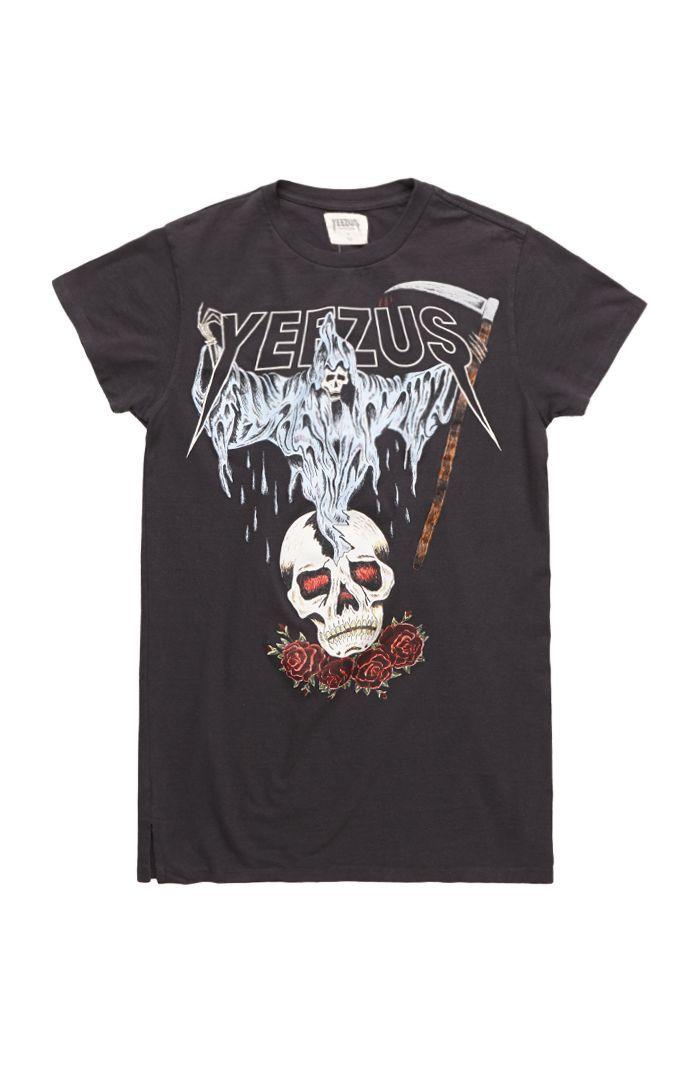 042084d4f6d8 Yeezus Tour Merch Reaper Skull T-Shirt #pacsun #yeezus | brown shoes ...
