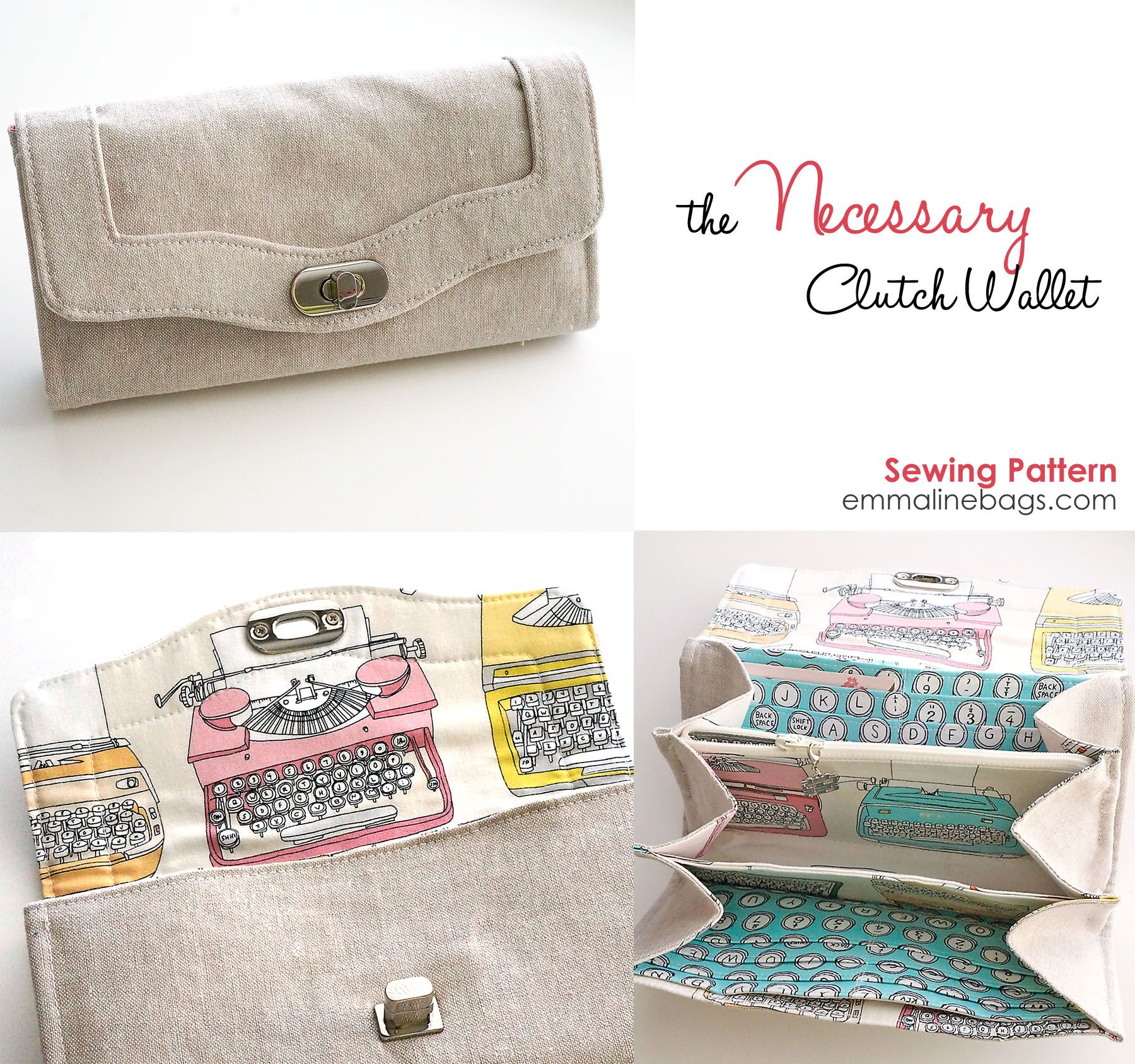 PDF - The Necessary Clutch Wallet | hand made | Pinterest | Costura ...